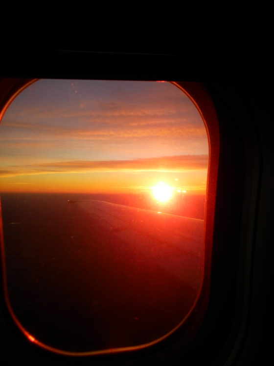 Sunrise somewhere over Texas.